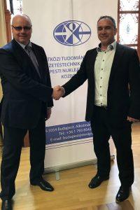 А.И. Агеев и директор Центра ядерного и водного права МНИИПУ И. Сабо